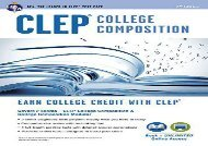 [+][PDF] TOP TREND CLEP(R) College Composition 2nd Ed., Book + Online (CLEP Test Preparation)  [DOWNLOAD]