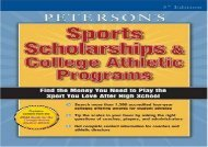 [+]The best book of the month Sports Schlrshps and Coll Athl P (Peterson s Sports Scholarships   College Athletic Programs)  [NEWS]