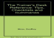 [+]The best book of the month The Trainer s Desk Reference: Tips, Checklists and Summaries  [FREE]