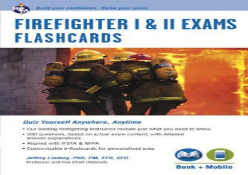 The best book of the month Firefighter I II Exams Flashcard