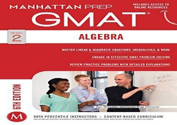 [+]The best book of the month GMAT Algebra Strategy Guide (Manhattan Prep GMAT Strategy Guides) [PDF]