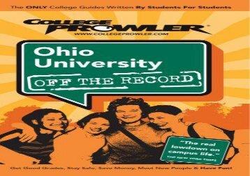 [+][PDF] TOP TREND Ohio University (College Prowler: Ohio University Off the Record) [PDF]