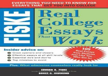 [+]The best book of the month Fiske Real College Essays That Work  [FULL]