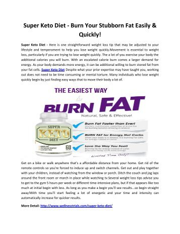 Super Keto Diet - Raise Your Metabolism To Burn Excess Weight!