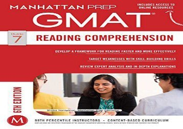 [+]The best book of the month GMAT Reading Comprehension (Manhattan Prep GMAT Strategy Guides)  [DOWNLOAD]