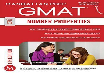 [+]The best book of the month GMAT Number Properties (Manhattan Prep GMAT Strategy Guides)  [NEWS]