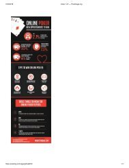 Three Things You Should Know About Online Poker