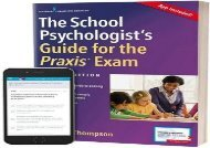 [+][PDF] TOP TREND The School Psychologist s Guide for the Praxis Exam, with App  [DOWNLOAD]