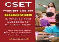 [+]The best book of the month CSET Multiple Subject Test Prep Book   Practice Test Questions for the CSET Exam [PDF]