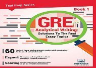 [+]The best book of the month GRE Analytical Writing: Solutions to the Real Essay Topics- Book 1: Volume 1 (Test Prep Series)  [DOWNLOAD]
