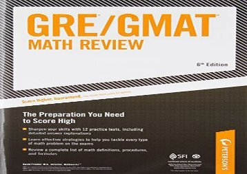 [+][PDF] TOP TREND Arco GRE/GMAT Math Review (Peterson s GRE/GMAT Math Review)  [READ]