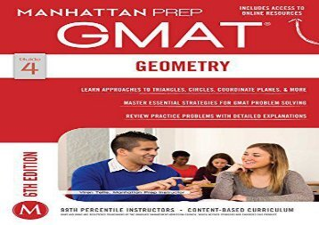 [+]The best book of the month GMAT Geometry (Manhattan Prep GMAT Strategy Guides)  [NEWS]