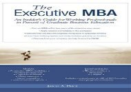 [+][PDF] TOP TREND Executive MBA: An Insider s Guide for Working Professionals in Pursuit of Graduate Business Education  [FULL]