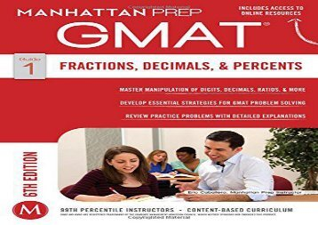 [+]The best book of the month GMAT Fractions, Decimals,   Percents (Manhattan Prep GMAT Strategy Guides) [PDF]