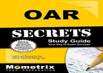 [+][PDF] TOP TREND Oar Secrets Study Guide: Oar Exam Review for the Officer Aptitude Rating Test  [NEWS]