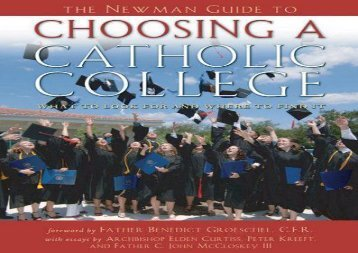 [+]The best book of the month Newman Guide To Choosing A Catholic College  [FULL]