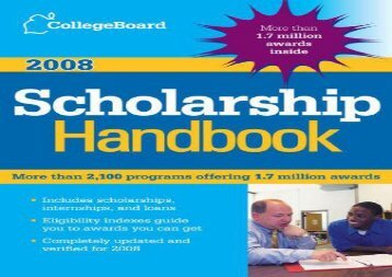 [+][PDF] TOP TREND The College Board Scholarship Handbook  [FULL]