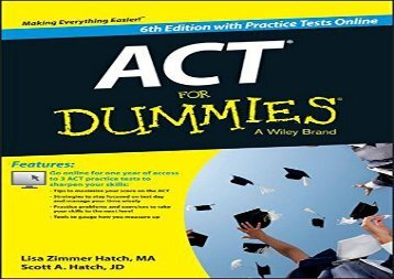 [+]The best book of the month Act for Dummies, with Online Practice Tests [PDF]