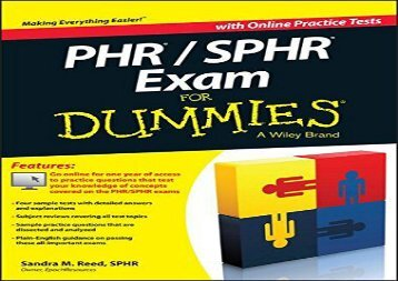 [+][PDF] TOP TREND PHR / SPHR Exam For Dummies  [FREE]