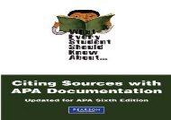 [+][PDF] TOP TREND What Every Student Should Know About Citing Sources with APA Documentation: Updated for APA Sixth Edition (What Every Student Should Know About. (Wesska Series))  [READ]