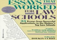 [+]The best book of the month Essays That Worked for Law Schools  [DOWNLOAD]