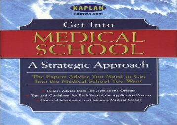 [+]The best book of the month Get into Medical School: A Strategic Approach  [DOWNLOAD]