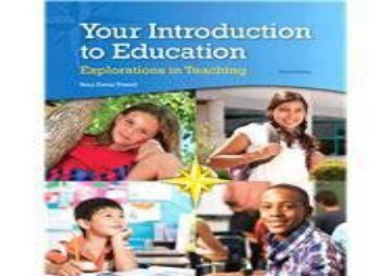 [+][PDF] TOP TREND Your Introduction to Education: Explorations in Teaching  [NEWS]