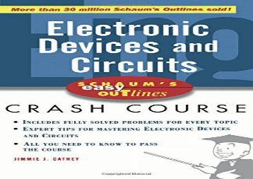 [+][PDF] TOP TREND Electric Devices and Circuits (Schaum s)  [READ]