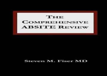 [+][PDF] TOP TREND The Comprehensive Absite Review (Fiser, Comprehensive Absite Review)  [READ]