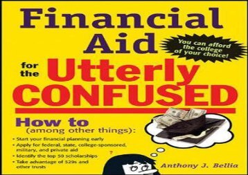 [+][PDF] TOP TREND Financial Aid for the Utterly Confused (Utterly Confused Series) [PDF]