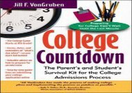 [+]The best book of the month College Countdown: The Parent s and Student s Survival Kit for the College Admissions Process  [FREE]