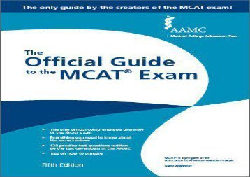 [+][PDF] TOP TREND Aamc the Official Guide to the McAt(r) Exam, Fifth Edition (Official Guide to the MCAT Exam)  [DOWNLOAD]