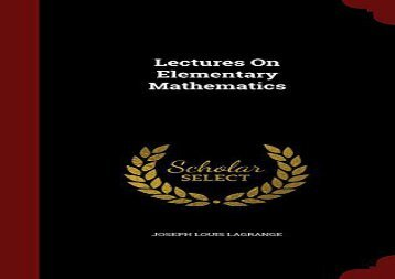 [+]The best book of the month Lectures On Elementary Mathematics [PDF]