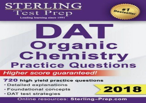 The best book of the month Sterling Test Prep DAT Organic Chemistry