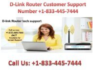 Fluctuations in Signal Strength with D-Link Router; Call +1-833-445-7444 D-Link Router Customer Support Service