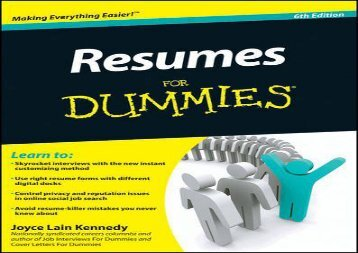 [+]The best book of the month Resumes For Dummies  [FREE]