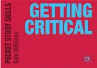 [+][PDF] TOP TREND Getting Critical (Pocket Study Skills)  [NEWS]