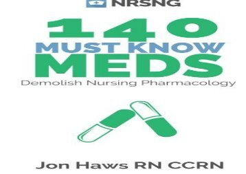 [+][PDF] TOP TREND 140 Must Know Meds: Demolish Nursing Pharmacology  [READ]