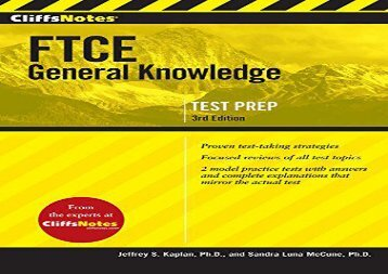 [+]The best book of the month Cliffsnotes FTCE General Knowledge Test  [DOWNLOAD]