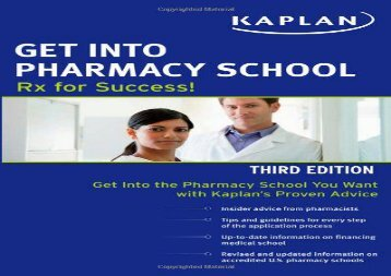 [+][PDF] TOP TREND Get Into Pharmacy School: RX for Success  [FULL]
