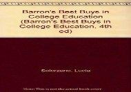 [+][PDF] TOP TREND Barron s Best Buys in College Education (Barron s Best Buys in College Education, 4th ed)  [DOWNLOAD]