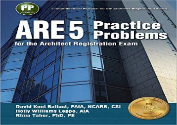 [+]The best book of the month ARE 5 Practice Problems for the Architect Registration Exam  [FULL]