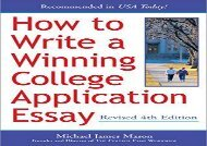 [+]The best book of the month How to Write a Winning College Application Essay  [DOWNLOAD]