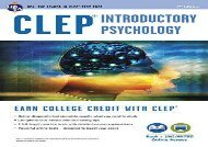 [+][PDF] TOP TREND CLEP(R) Introductory Psychology Book + Online  [FREE]