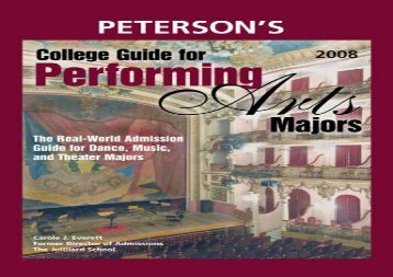 [+]The best book of the month Peterson s College Guide for Performing Arts Majors  [READ]