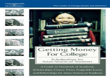 [+]The best book of the month Getting Money for College: Scholarships for Asian American Students (Peterson s Scholarships for Asian-American Students)  [FREE]