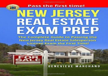 [+][PDF] TOP TREND New Jersey Real Estate Exam Prep: The Complete Guide to Passing the New Jersey Real Estate Salesperson License Exam the First Time!  [FREE]
