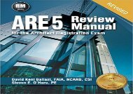 [+][PDF] TOP TREND ARE 5 Review Manual for the Architect Registration Exam  [NEWS]