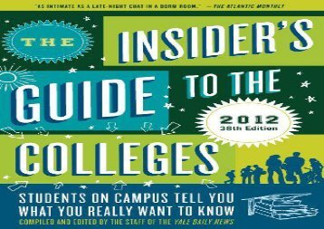 [+][PDF] TOP TREND The Insider s Guide to the Colleges (Insider s Guide to the Colleges: Students on Campus) [PDF]
