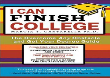 [+][PDF] TOP TREND I Can Finish College: The Overcome Any Obstacle and Get Your Degree Guide  [FREE]